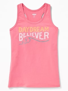 Graphic Racerback Tank for Girls