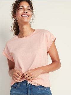 Relaxed Dolman-Sleeve Tee for Women