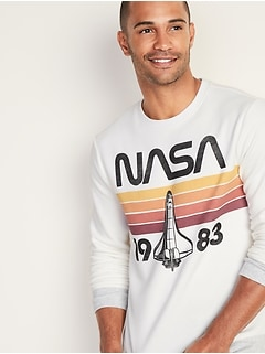 "NASA&#174 ""1983"" Vintage-Graphic Sweatshirt for Men"