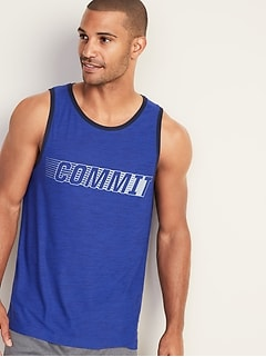 Ultra-Soft Breathe ON Graphic Tank for Men