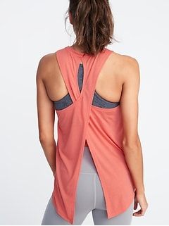 42915210851d2 Relaxed Lightweight Cross-Back Performance Tank for Women