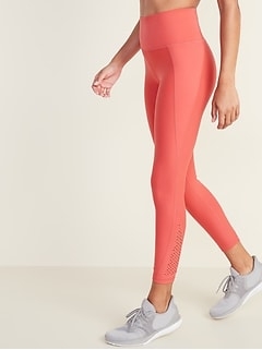 High-Rise Elevate Built-In Sculpt Laser-Cut 7/8-Length Leggings for Women