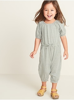 Printed Jersey Jumpsuit for Toddler Girls