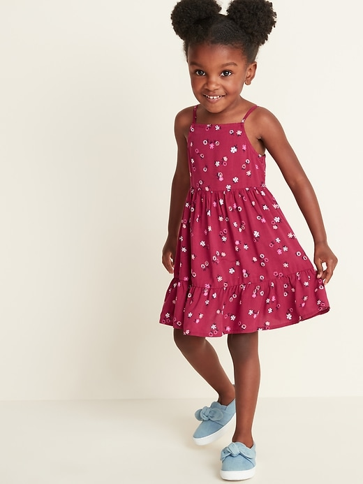 Tiered-Hem Fit & Flare Cami Dress for Toddler Girls