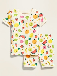 Fruit-Print Sleep Set For Toddler & Baby
