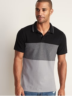 Built-In Flex Moisture-Wicking Color-Block Pro Polo for Men