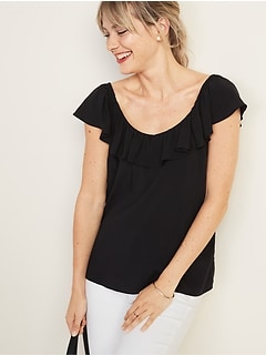 Ruffled V-Neck Blouse for Women