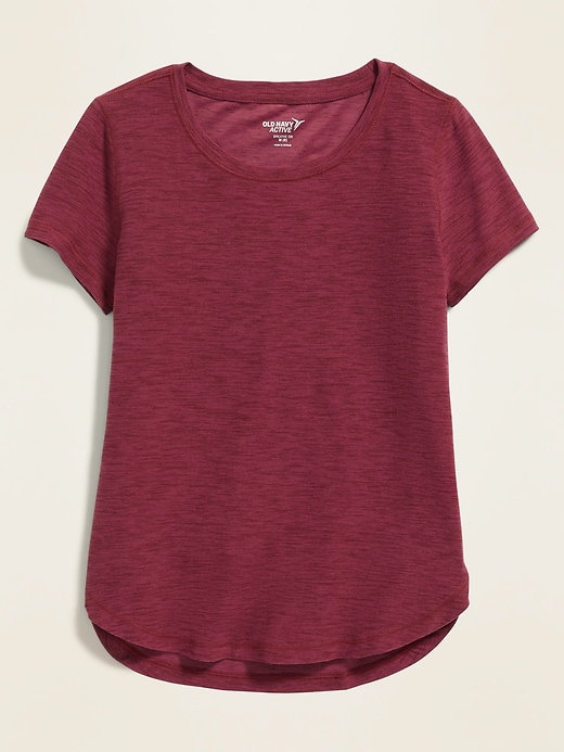 Ultra-Soft Breathe ON Built-In Flex Tulip-Hem Tee for Girls