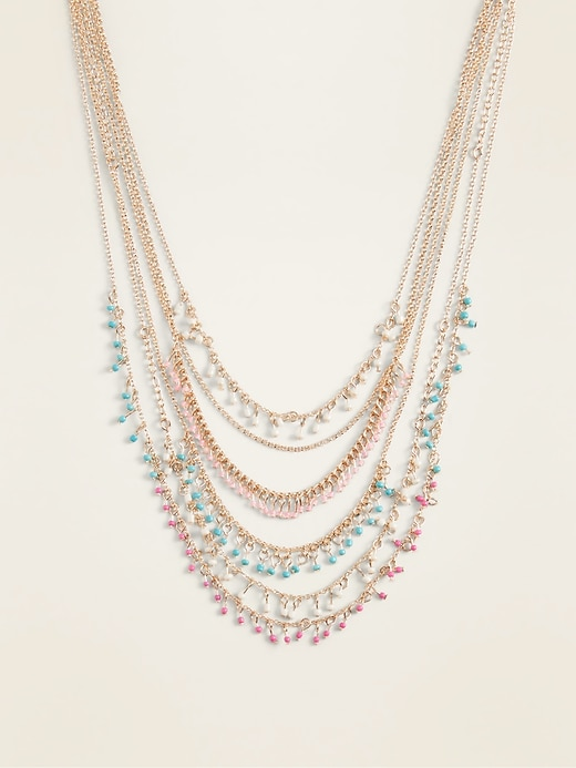 Multi-Strand Statement Necklace for Women