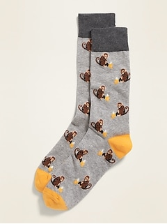 Printed Crew Socks for Men