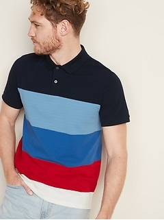 Built-In Flex Moisture-Wicking Color-Blocked Pro Polo for Men