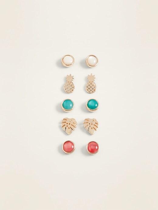 e0b666c4c0c45 Shoptagr | Stud Earrings 5 Pack For Women by Old Navy