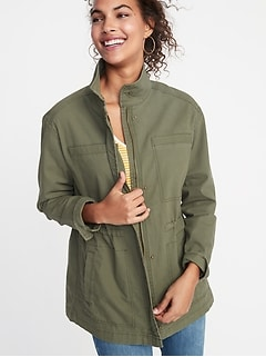 Canvas Utility Jacket for Women