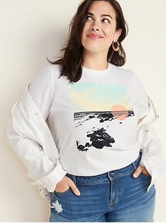 EveryWear Plus-Size Graphic Tee
