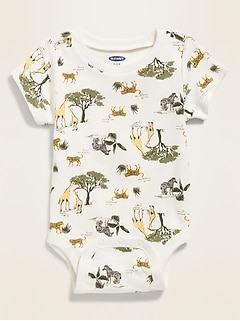 Printed Crew-Neck Bodysuit for Baby