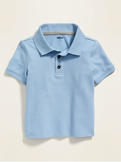 Built-In Flex Pique Uniform Polo for Toddler Boys