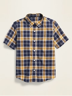 Plaid Built-In Flex Shirt for Boys