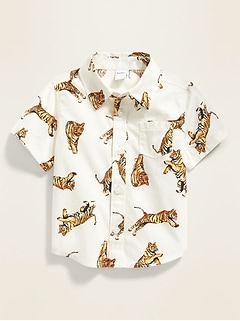 Printed Pocket Shirt for Baby