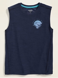 Breathe ON Go-Dry Graphic Muscle Tank for Boys