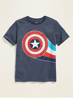 e931d55de Marvel™ Captain America Wrap-Around Graphic Tee for Boys