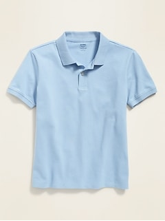 Uniform Stain-Resistant Built-In Flex Pique Polo for Boys
