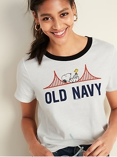Peanuts® Snoopy-Graphic Tee for Women