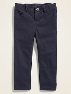 Skinny Twill Uniform Five-Pocket Pants for Toddler Girls