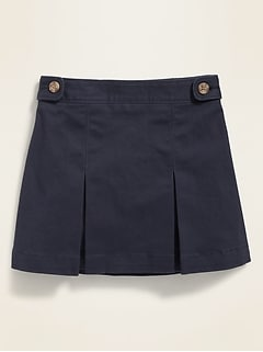 Twill Uniform Skort for Toddler Girls