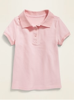 Uniform Polo for Toddler Girls