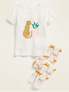 """Queen Of The Jungle"" Pajama Set for Toddler Girls & Baby"