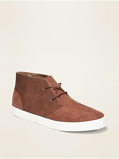 Faux-Suede/Faux-Leather Sneakers for Men