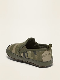 Unisex Camo Canvas Slip-Ons for Baby