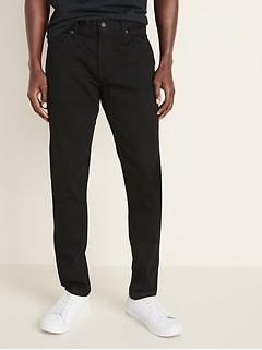 Skinny Built-In Flex Black Jeans for Men