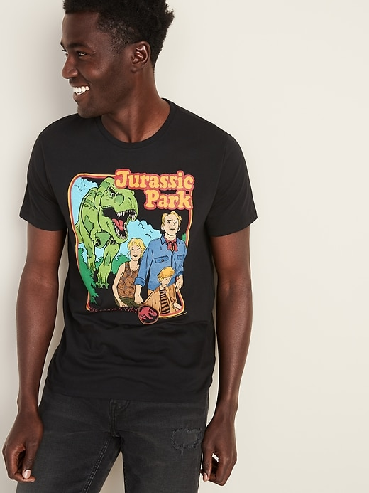 "Jurassic Park&#153 ""Life Finds A Way"" Graphic Tee for Men"