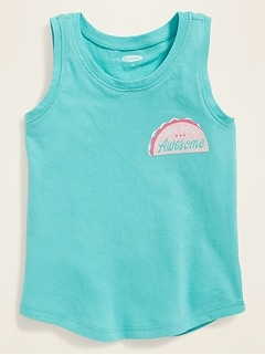 Graphic Jersey Tank for Toddler Girls