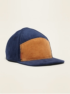 Color-Blocked Corduroy Baseball Cap for Toddler Boys