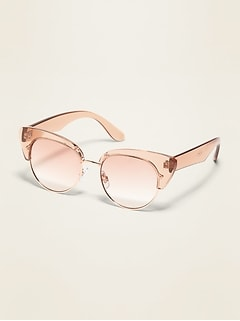 Cat-Eye Half-Frame Sunglasses for Women