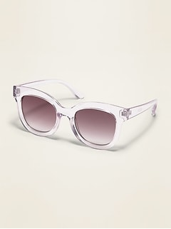 Thick-Frame Square Sunglasses for Women