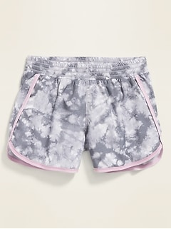 Go-Dry Cool Dolphin-Hem Run Shorts for Girls