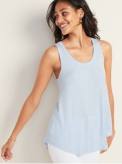 6a734bfdc0c4 Luxe Scoop-Neck Swing Tank for Women