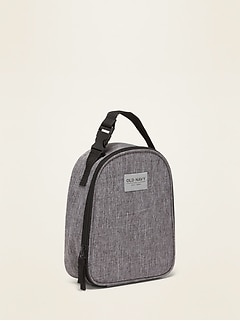 Zip-Top Canvas Lunch Tote