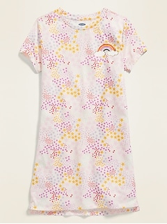 Graphic Jersey Nightgown for Girls