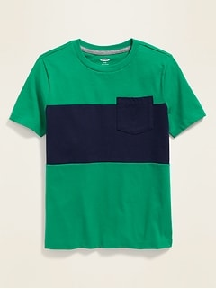 Color-Blocked Pocket Tee for Boys