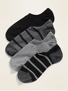 No-Show Liner Socks 4-Pack for Men