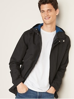 Water-Resistant Hooded Anorak for Men