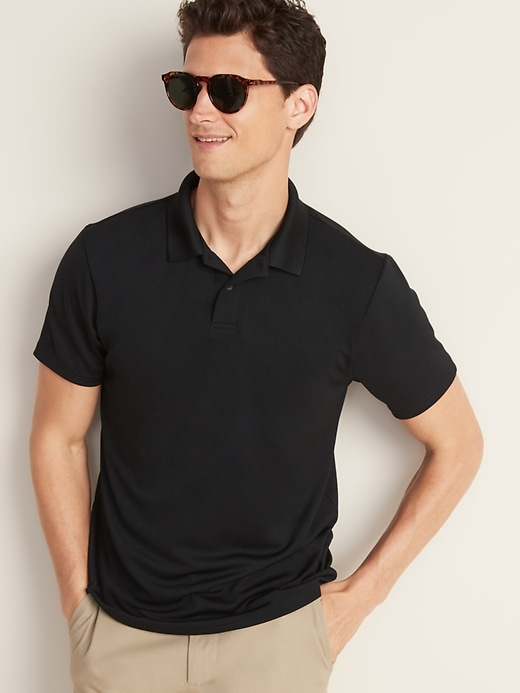 Moisture-Wicking Tricot Uniform Polo for Men