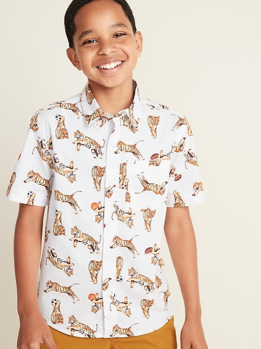 Printed Built-In Flex Shirt for Boys