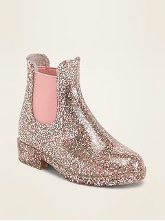 Glitter Chelsea Rain Boots for Toddler Girls