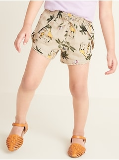 Printed Tulip-Hem Shorts for Toddler Girls