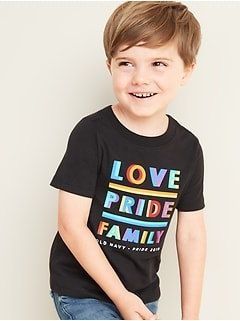 "2019 Pride ""Love Pride Family"" Tee For Toddler Boys"